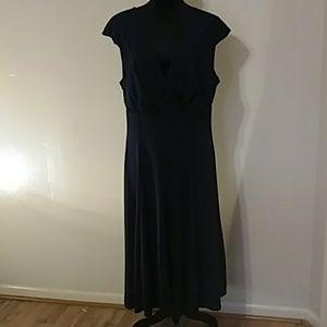 Forever Women Navy Blue V Neck Dress